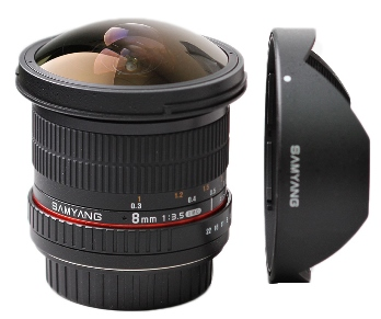 fisheye Samyang 8mm f3.5 CS_II UMC