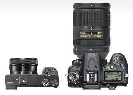 taille-Sony-NEX-7-reflex-Nikon
